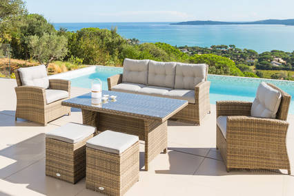 Salon de jardin avec table haute