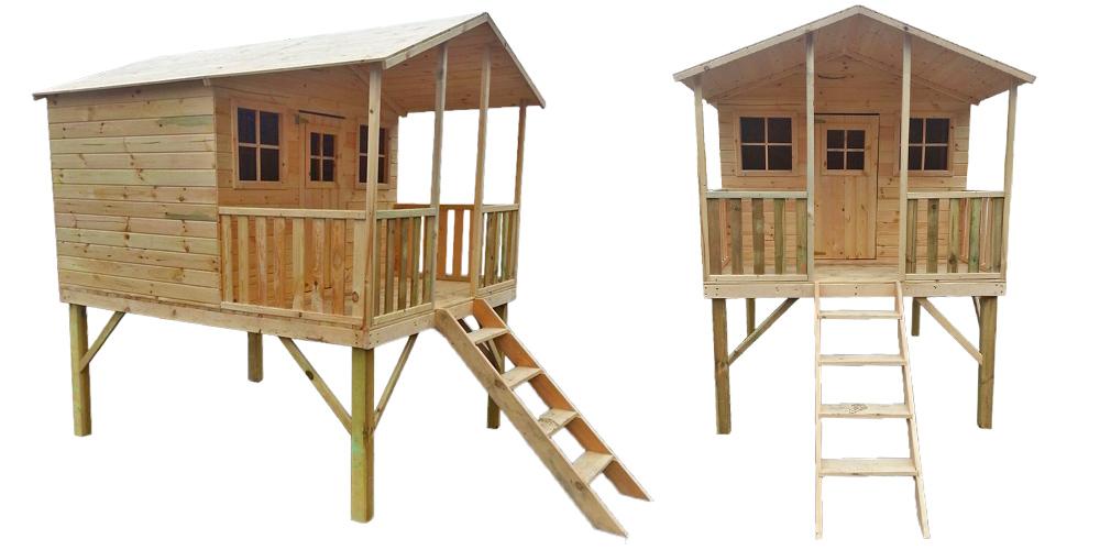 Fabriquer Cabane En Bois Sur Pilotis Jardin Piscine Et Cabane