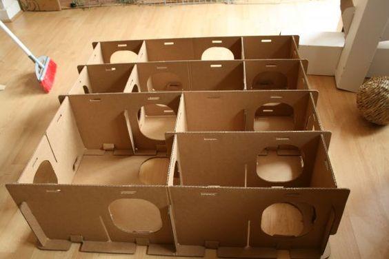 Comment fabriquer une cabane en carton pour lapin