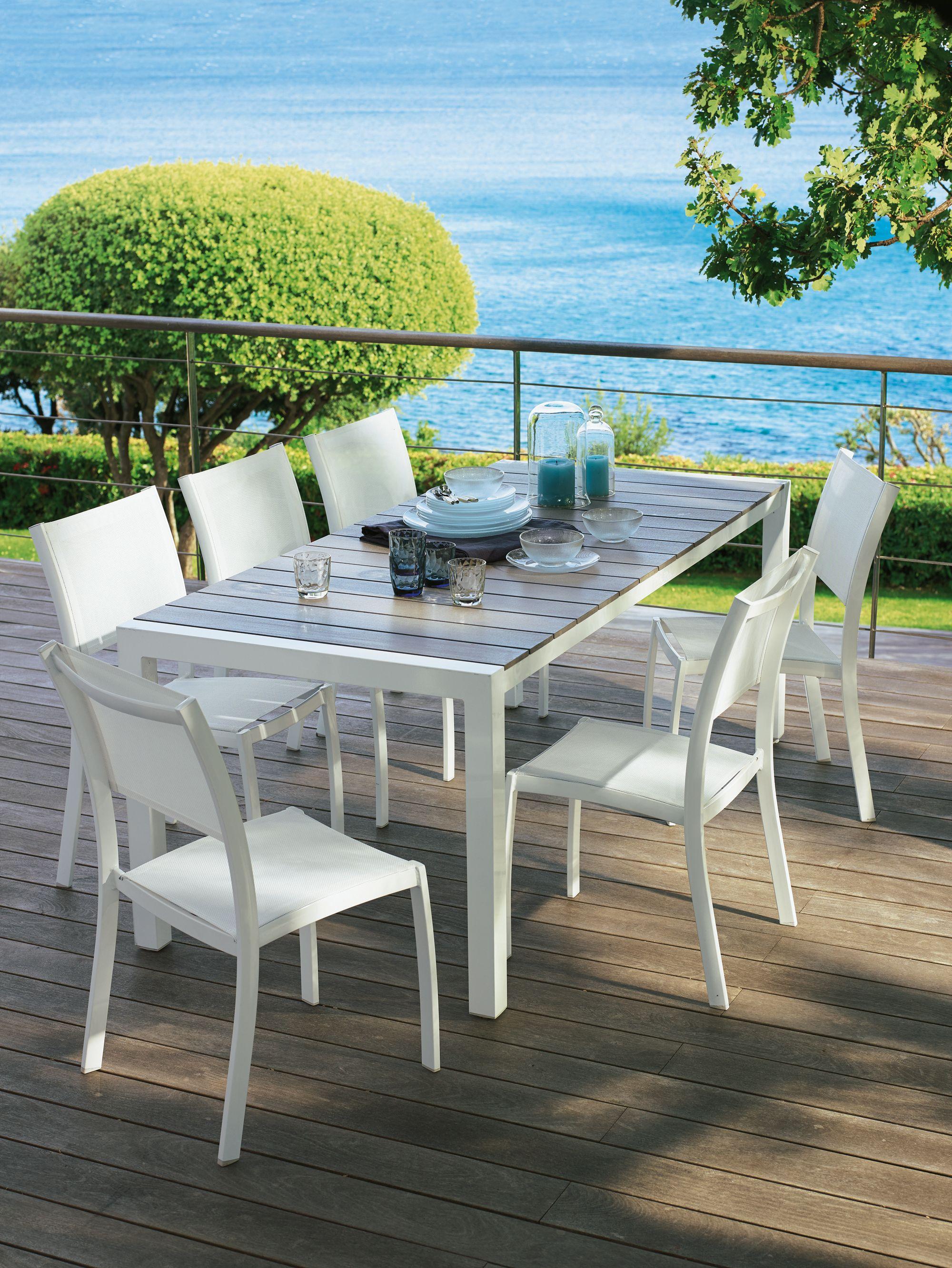 Salon de jardin table ronde leclerc