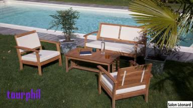 Salon de jardin bois francais