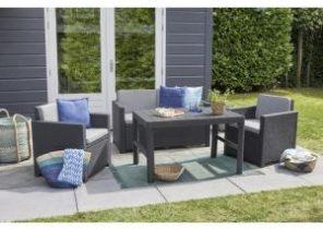 Salon de jardin résine tressée 2 fauteuils - Jardin piscine et Cabane