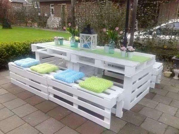 Salon de jardin palette deco