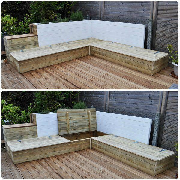 salon de jardin bois fait maison jardin piscine et cabane. Black Bedroom Furniture Sets. Home Design Ideas