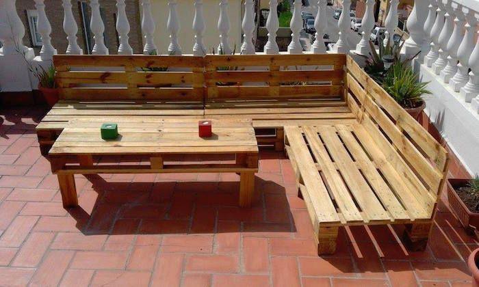Idee salon de jardin en bois