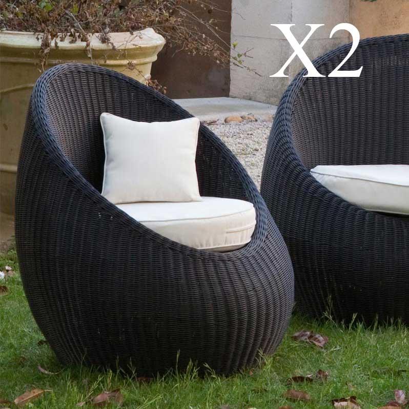 Salon de jardin 2 fauteuils pas cher