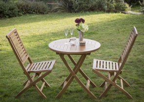 Salon de jardin pliant bois - Jardin piscine et Cabane