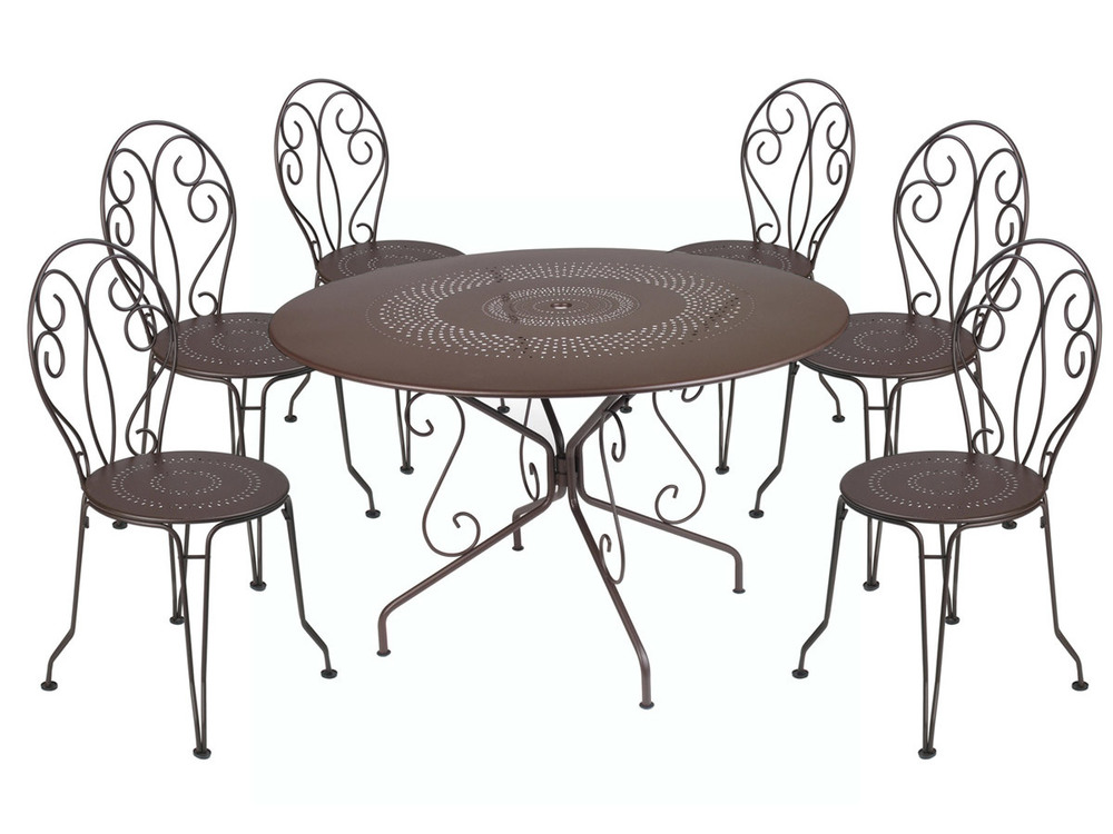 Beautiful Salon De Jardin Fer Forge Couleur Images - House Interior ...