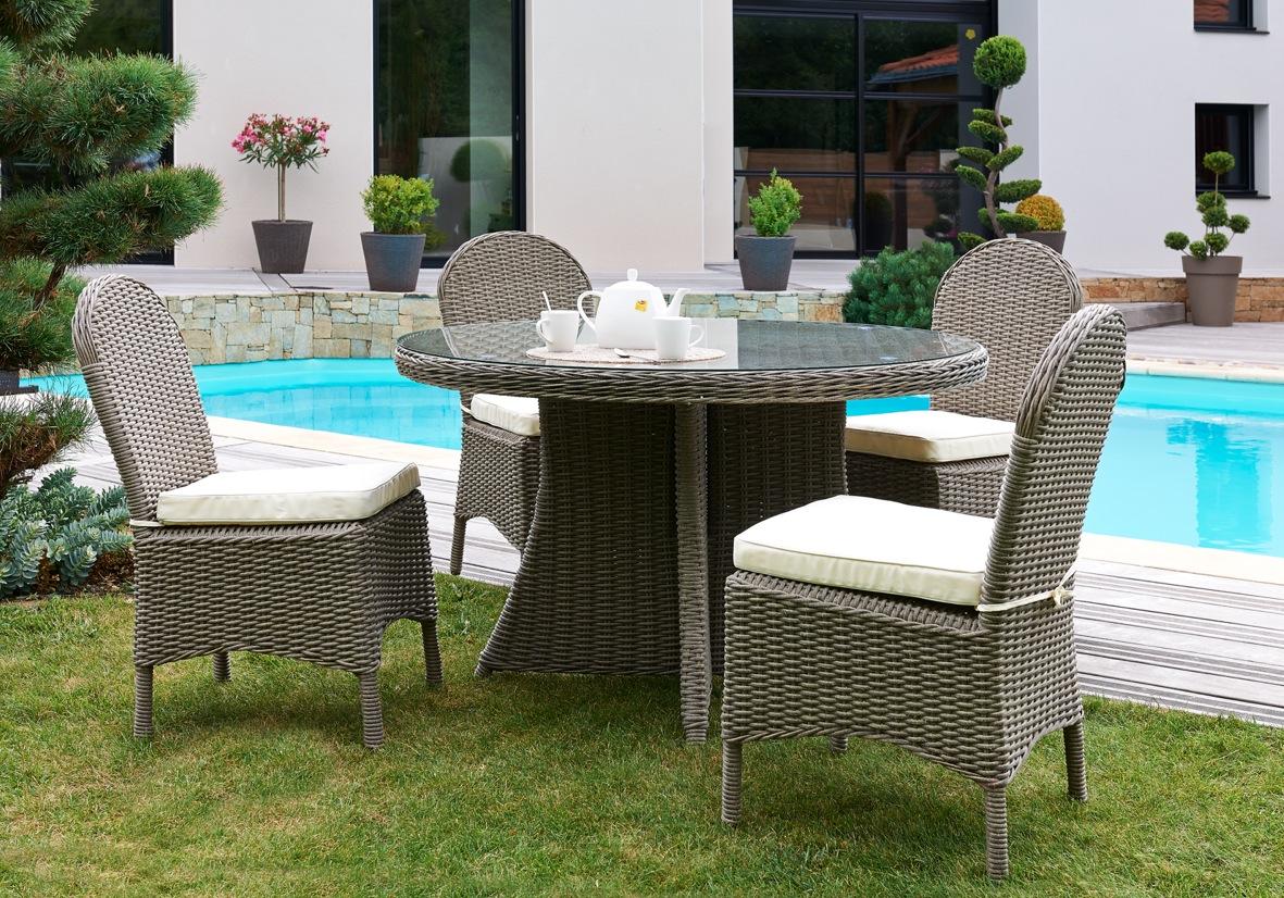 Salon de jardin tressé chez leclerc - Jardin piscine et Cabane