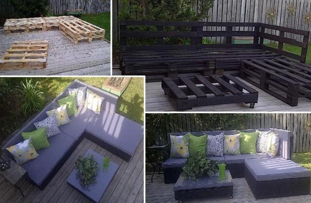Salon de jardin recup palette - Jardin piscine et Cabane