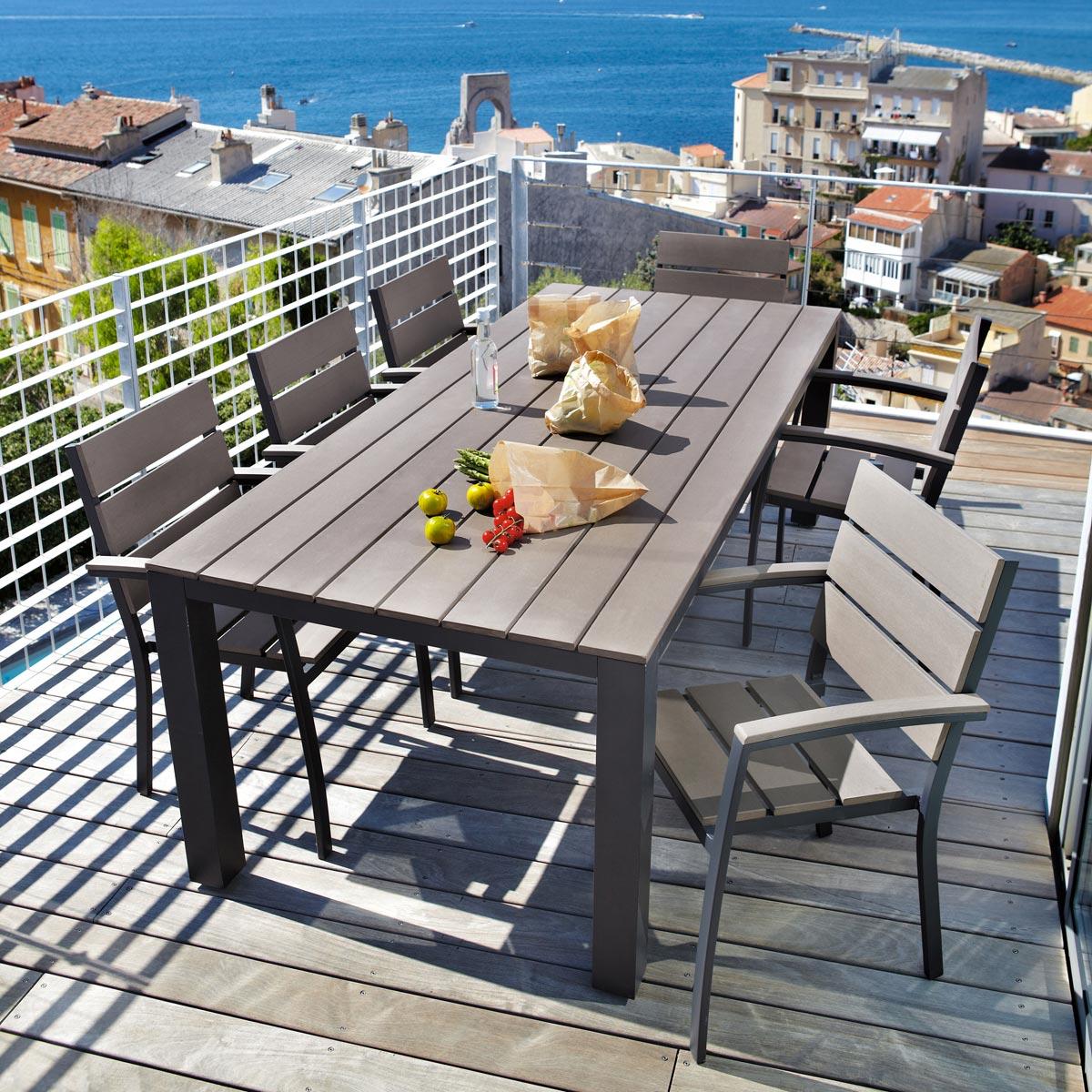 Table salon de jardin maison du monde