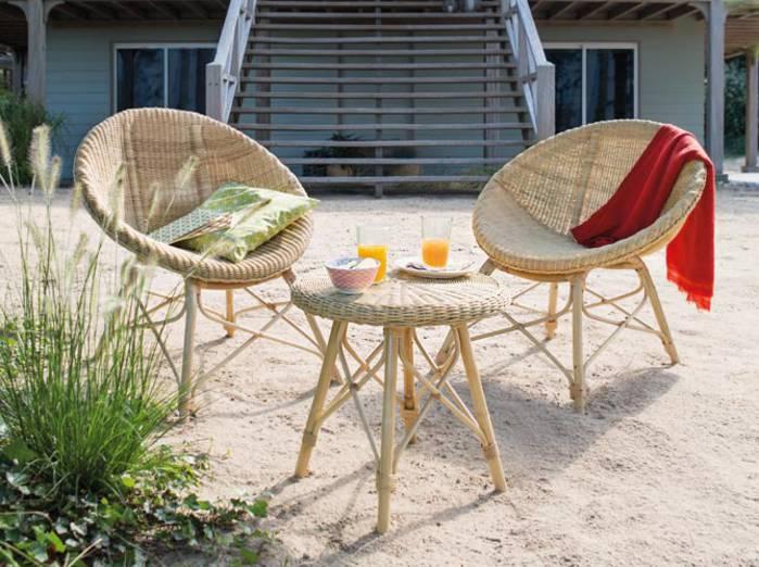 Petit salon de jardin rond - Jardin piscine et Cabane