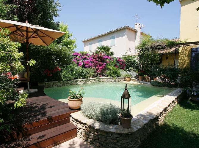 Deco jardin autour piscine - Jardin piscine et Cabane