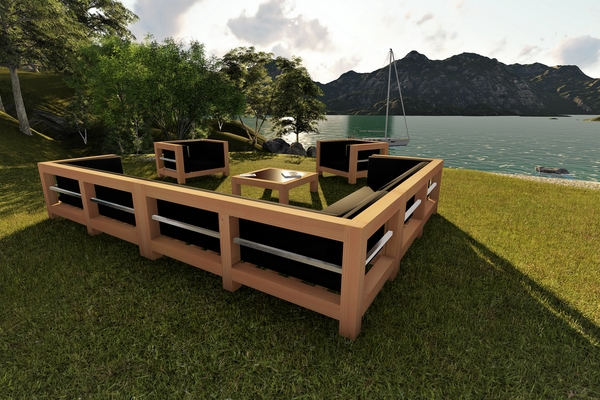 Salon de jardin bois massif - Jardin piscine et Cabane