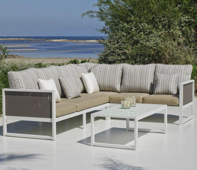 Salon de jardin aluminium - blooma jazz - Jardin piscine et Cabane