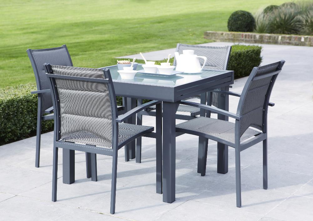 Table De Jardin Aluminium Avec Rallonge. Best Carrefour Salon De ...