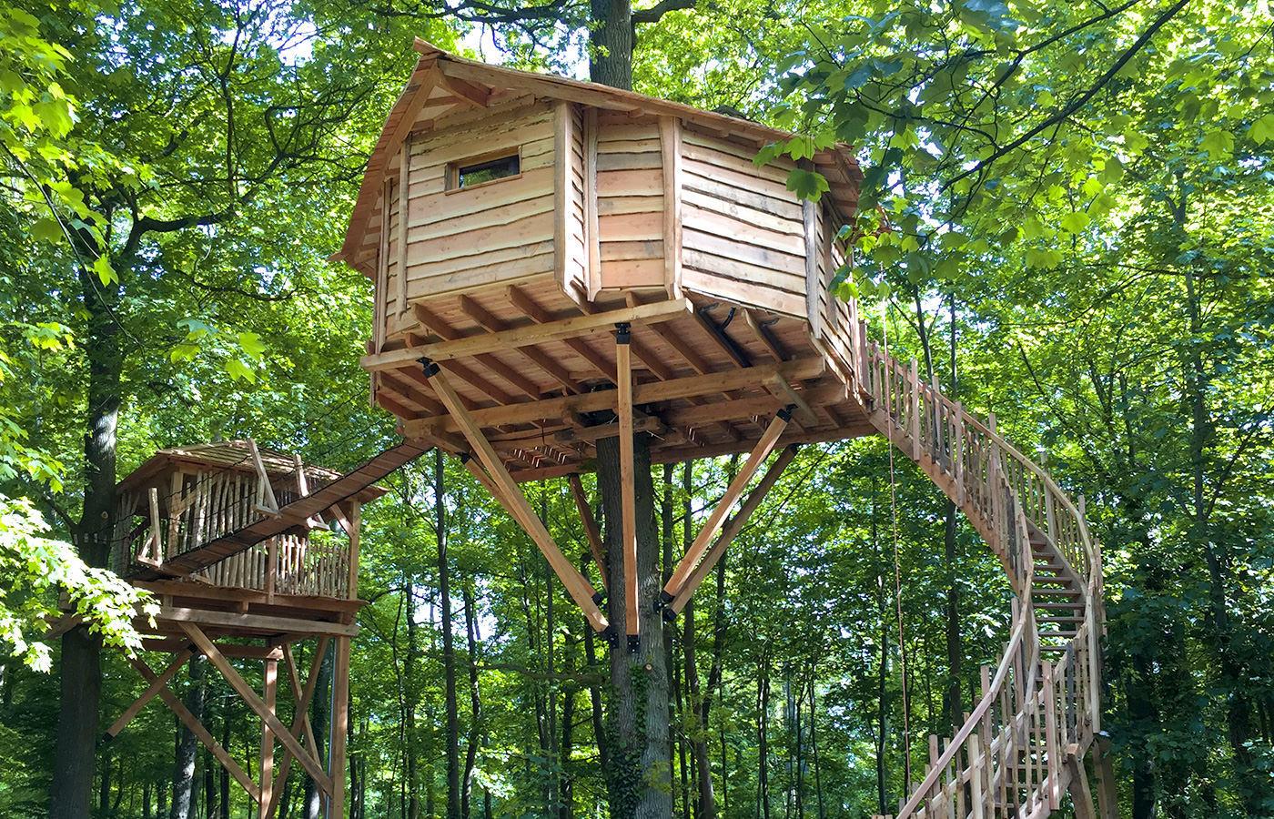 Cabane dans un arbres