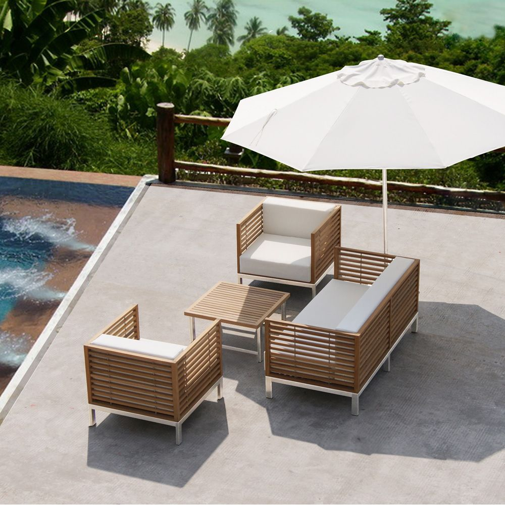 prix salon jardin teck massif jardin piscine et cabane. Black Bedroom Furniture Sets. Home Design Ideas