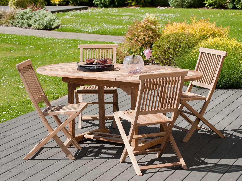 Table et chaise de jardin en teck pas cher jardin piscine et cabane - Tables et chaises de jardin pas cher ...