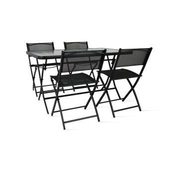 Salon de jardin table et chaises pliantes
