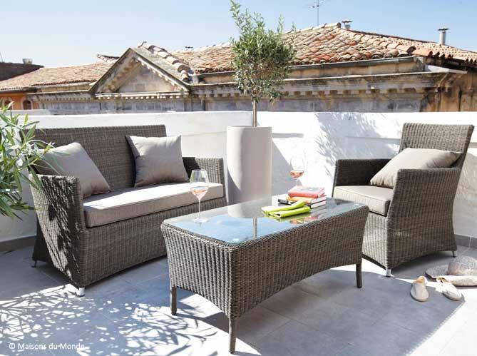 Salon jardin balcon - Jardin piscine et Cabane