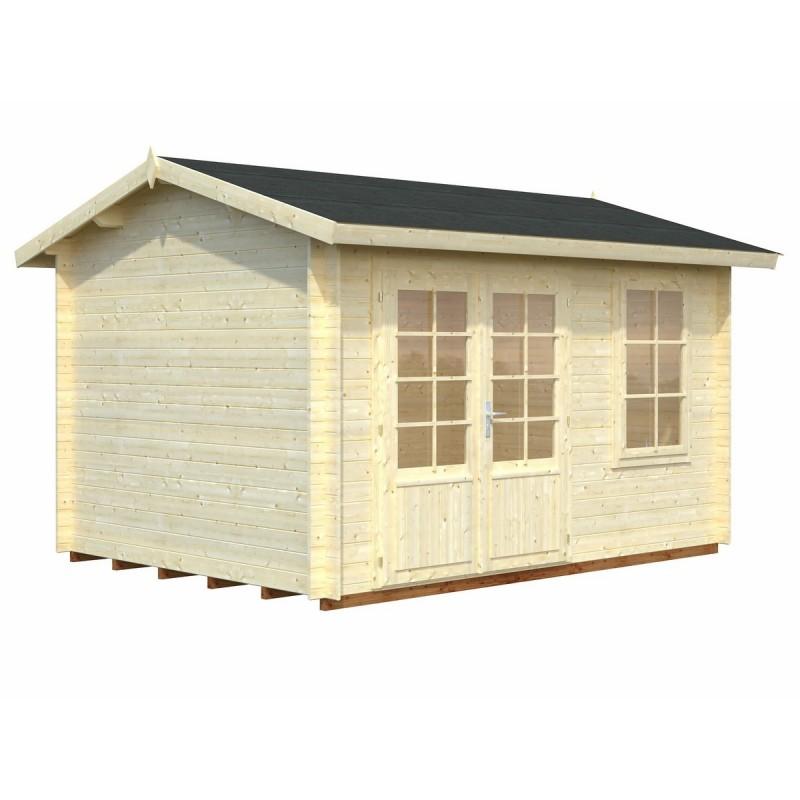 Cabane de jardin avec plancher