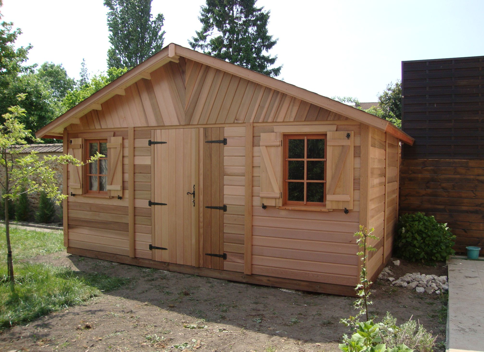 cabane de jardin red cedar jardin piscine et cabane. Black Bedroom Furniture Sets. Home Design Ideas