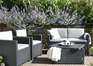 Salon de jardin bois remmington - Jardin piscine et Cabane