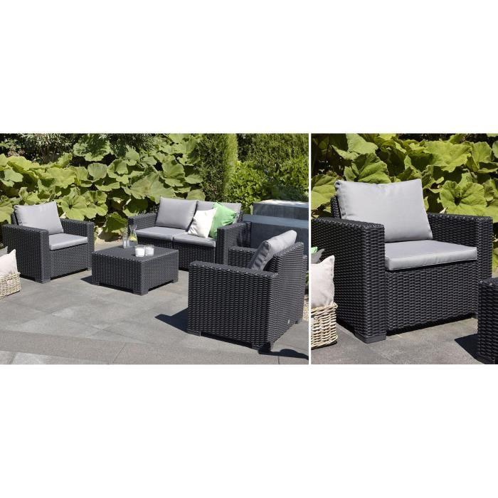 salon de jardin allibert california 5 places jardin. Black Bedroom Furniture Sets. Home Design Ideas