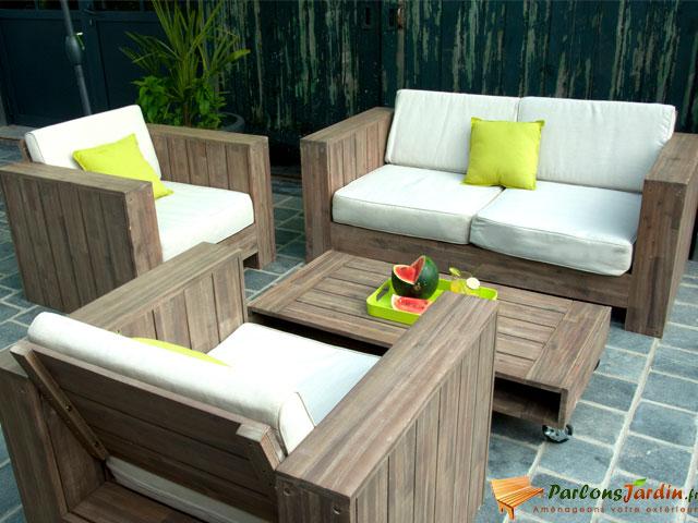 Salon de jardin palette bois - Jardin piscine et Cabane