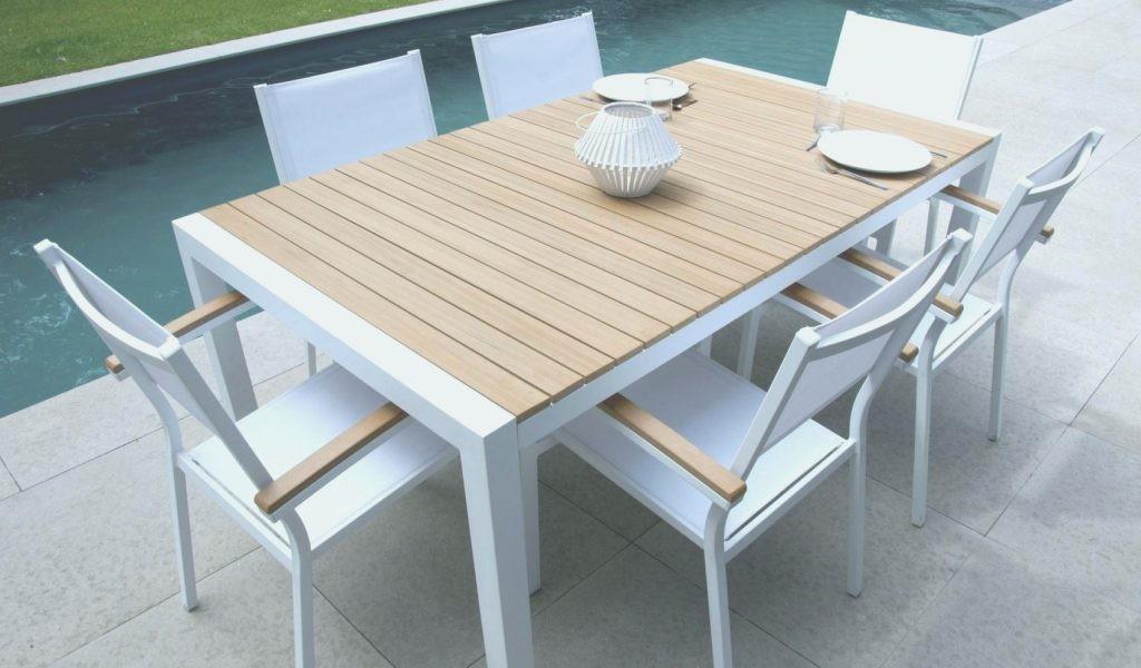 Salon de jardin aluminium bois