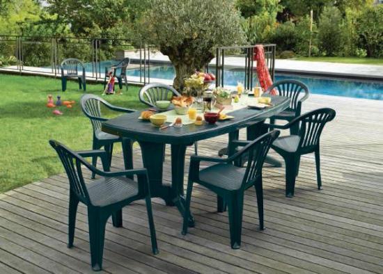 Comment nettoyer un salon de jardin en plastique vert - Jardin ...