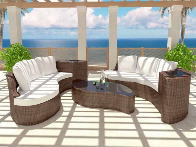 salon de jardin r sine tress e artelia jardin piscine et cabane. Black Bedroom Furniture Sets. Home Design Ideas