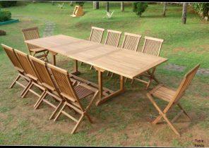 Table exterieur tresse - Jardin piscine et Cabane