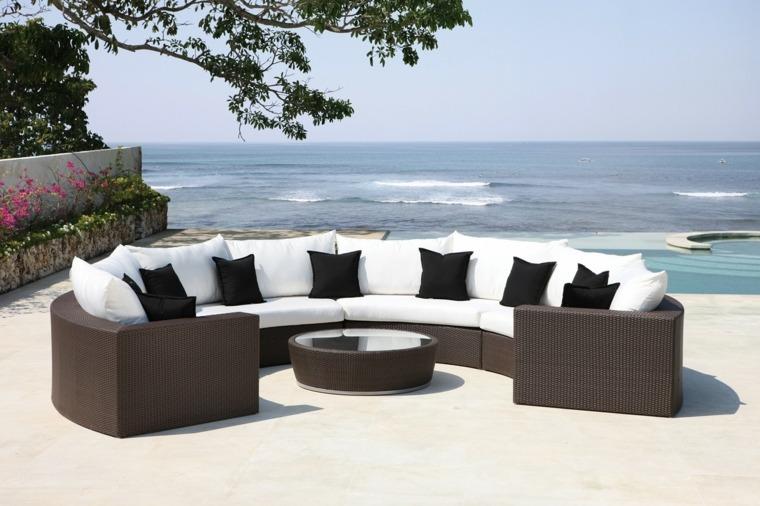 Salon de jardin moderne promotion - Jardin piscine et Cabane