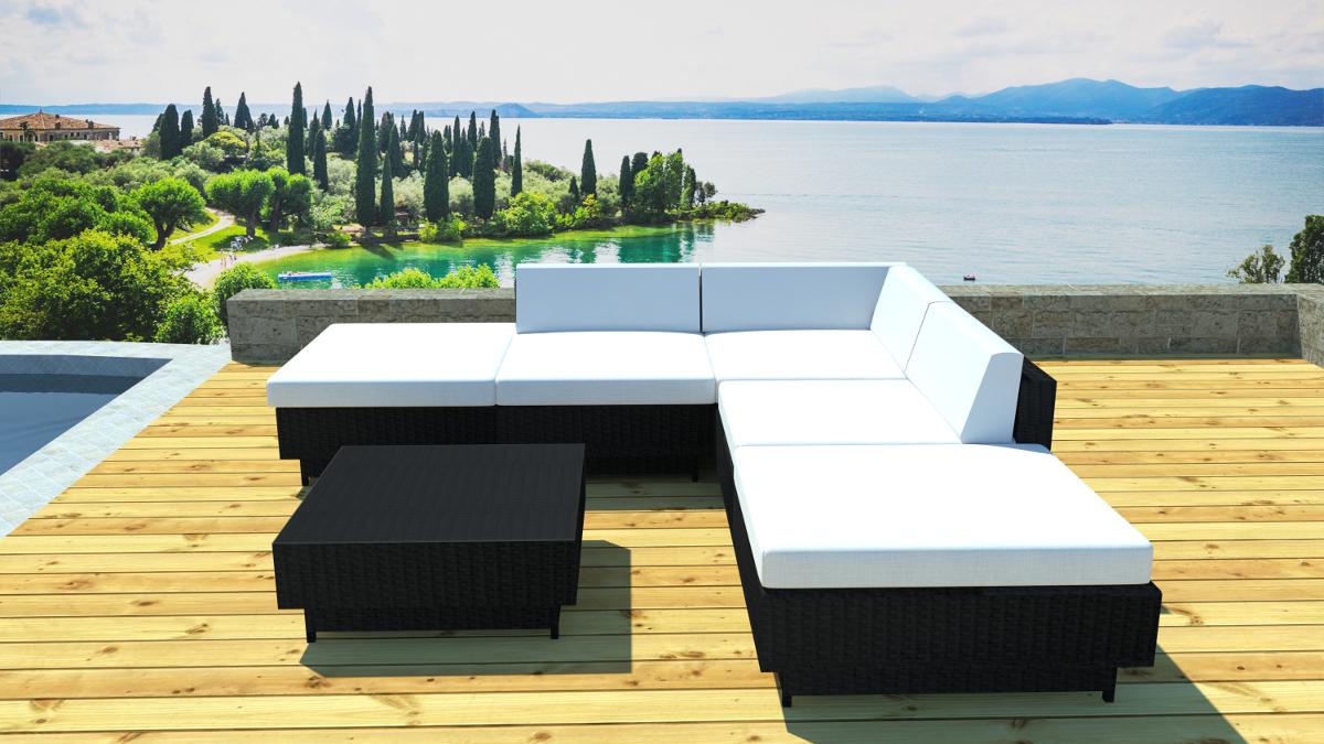 Salon de jardin coussin impermeable - Jardin piscine et Cabane