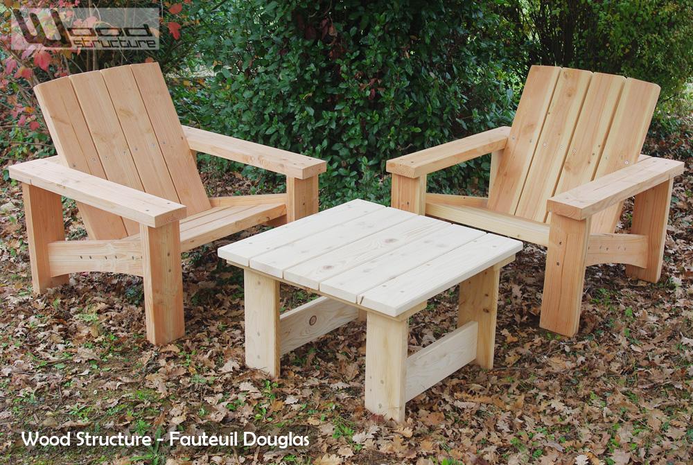 Table salon de jardin bois