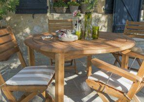 Mobilier de jardin fer et bois - Jardin piscine et Cabane