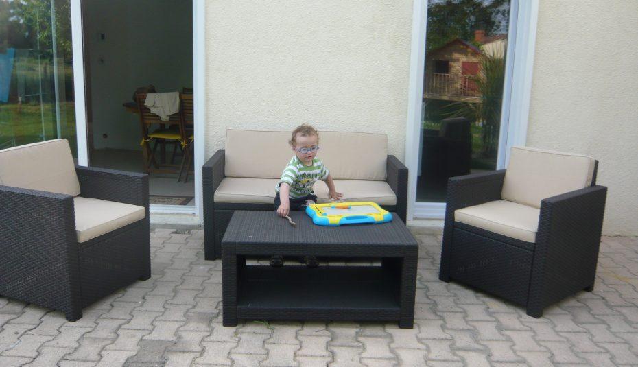 Salon de jardin tresse gris leclerc - Jardin piscine et Cabane