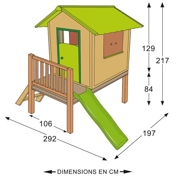 plan de construction cabane en bois sur pilotis jardin. Black Bedroom Furniture Sets. Home Design Ideas