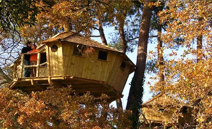 Cabane dans les arbres bretagne pas cher