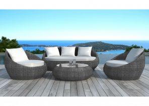 Salon de jardin gili taupe - Jardin piscine et Cabane