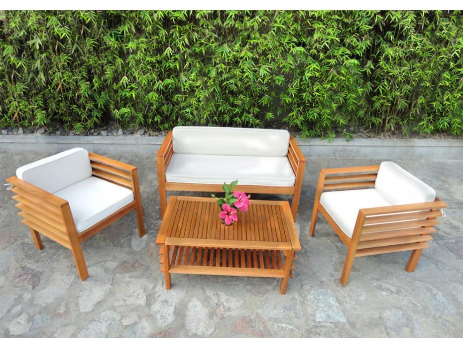 Salon de jardin castorama en teck - Jardin piscine et Cabane