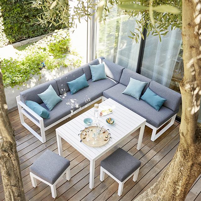 Salon de jardin mosaique castorama - Jardin piscine et Cabane