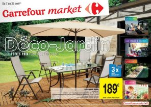 Carrefour salon de jardin en promotion - Jardin piscine et Cabane