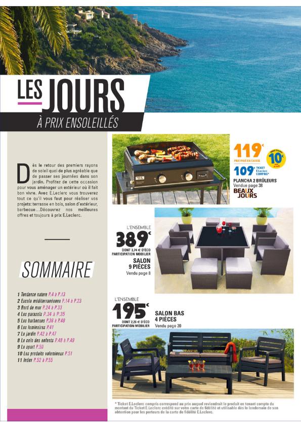 Mobilier de jardin edouard leclerc - Jardin piscine et Cabane