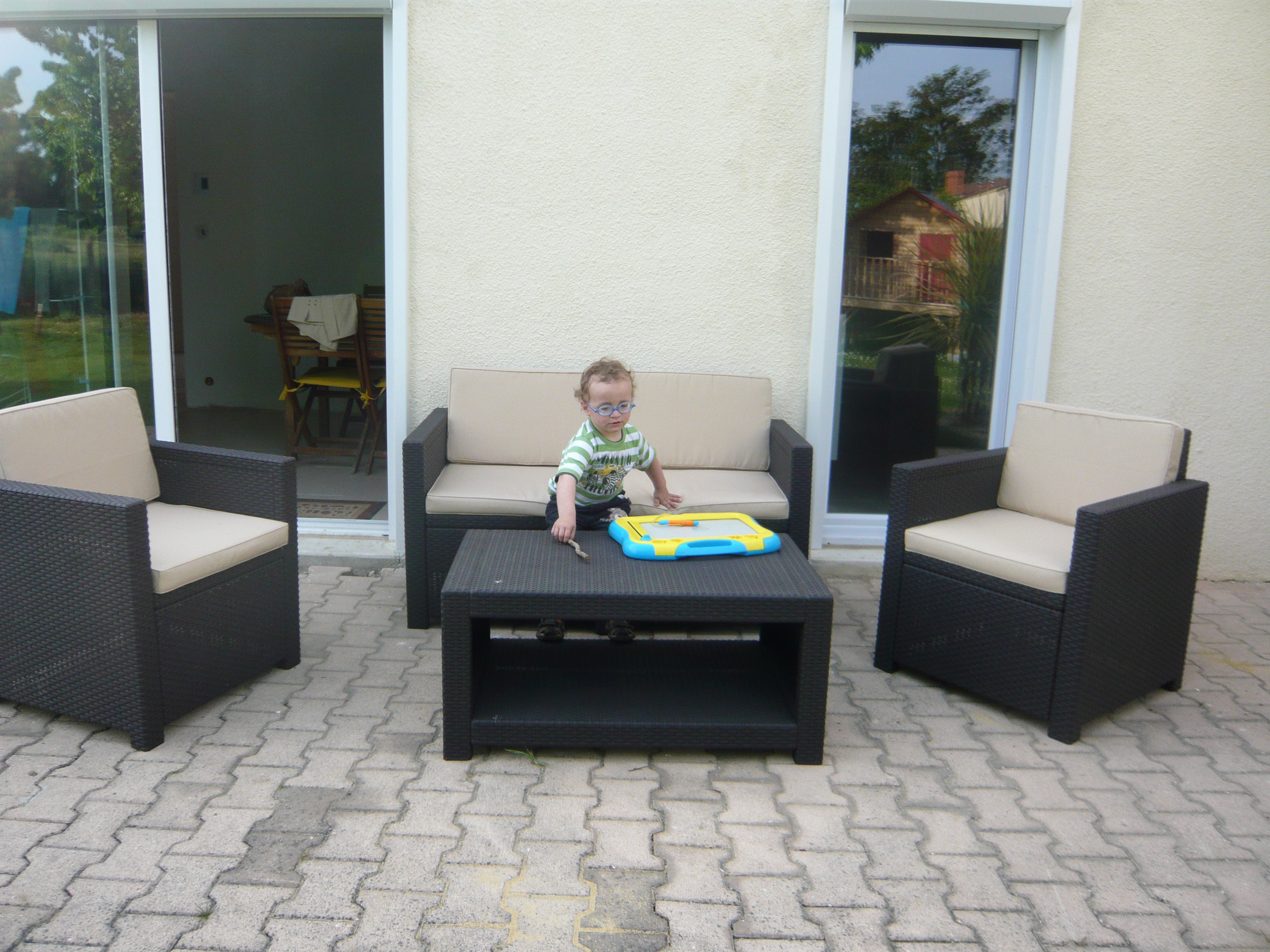 Salon de jardin rotin tressé cdiscount - Jardin piscine et Cabane