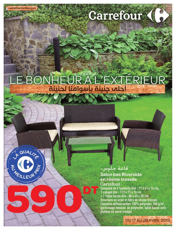 Salon de jardin table et chaises carrefour