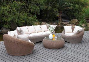 Salon de jardin en résine tressée truffaut