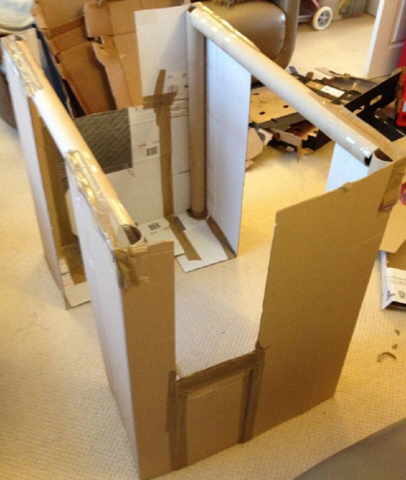 Cabane en carton construire